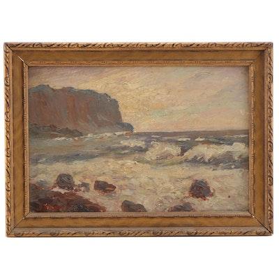 William H. Partridge Seascape Oil Painting