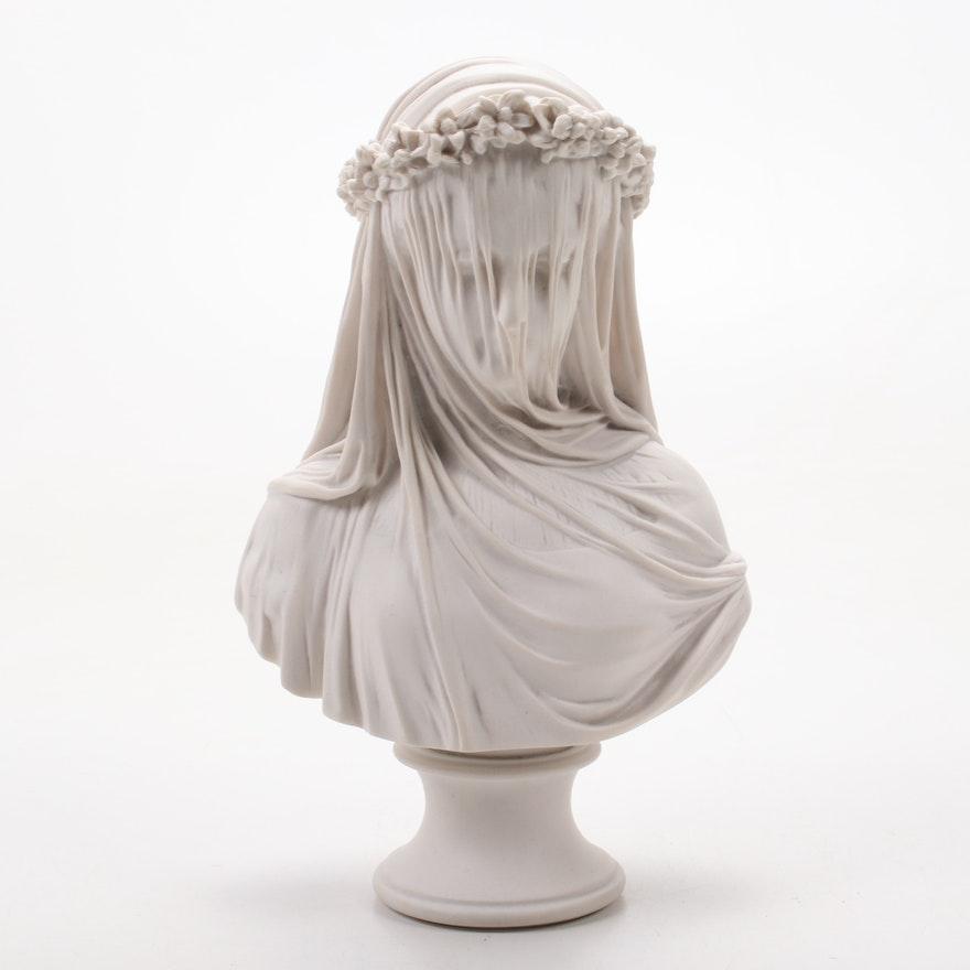 "Contemporary Composite Marble Sculpture ""The Bride"" After Raffaelle Monti"