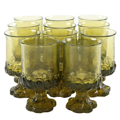 """Franciscan Citron Green """"Madeira"""" Juice/Wine Glasses, 1971–1978"""