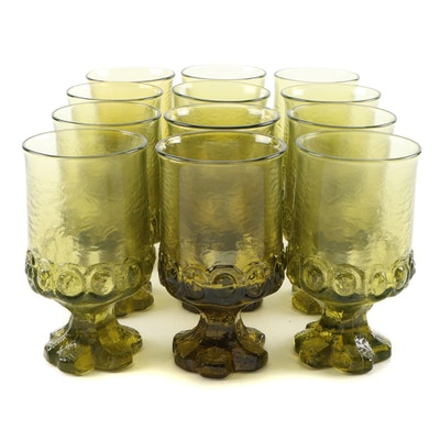 """Franciscan Citron Green """"Madeira"""" Water Goblets, 1971–1978"""