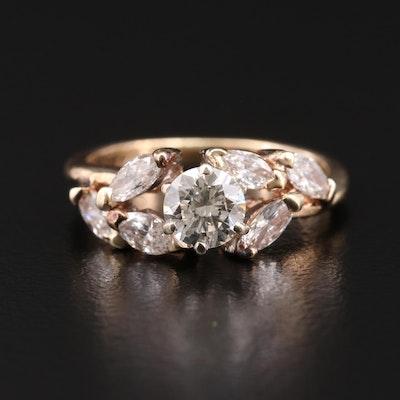 14K Gold 1.14 CTW Diamond Ring