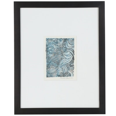 Reinhold Schmid Abstract Etching with Aquatint, 2010