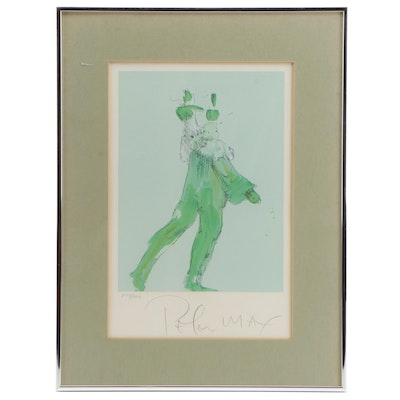 "Peter Max Lithograph ""Circus Performer"""