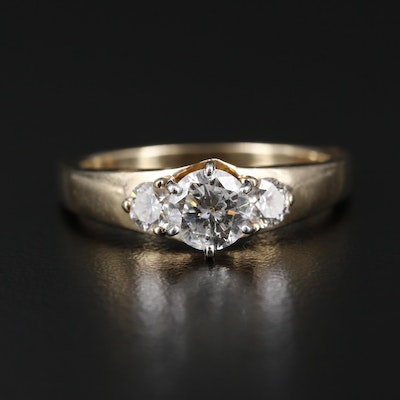 14K Gold 1.02 CTW Diamond Ring