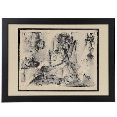 """Heliogravure after Pablo Picasso """"Jeune Faune Femme et Enfante"""""""