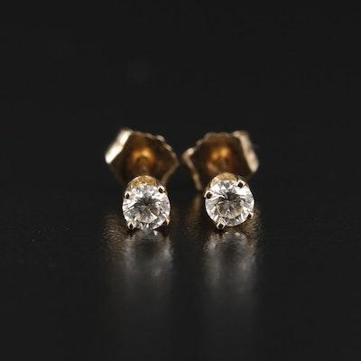 14K Yellow Gold 0.26 CTW Diamond Stud Earrings