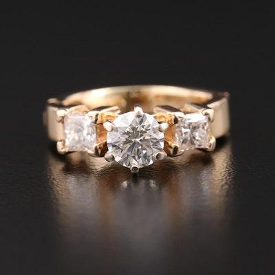 14K Gold 1.44 CTW Diamond Ring