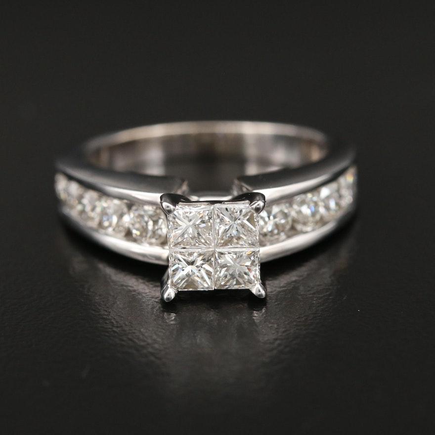 14K Gold 1.64 CTW Diamond Ring