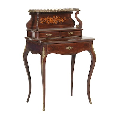 Louis XV Style Gilt Metal-Mounted and Rosewood Marquetry Escritoire