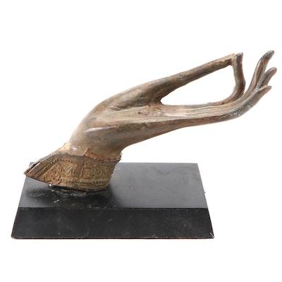 Thai Bronze Hand of the Buddha in Vitarka Mudra