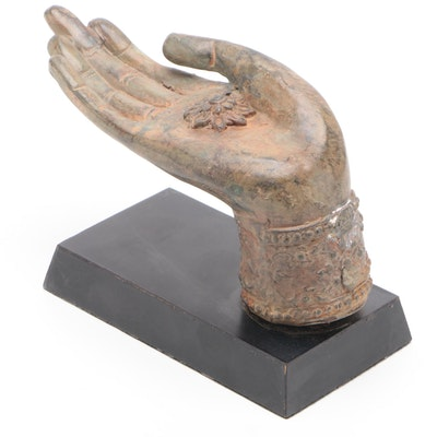 Thai Bronze Hand of the Buddha in Abhaya Mudra