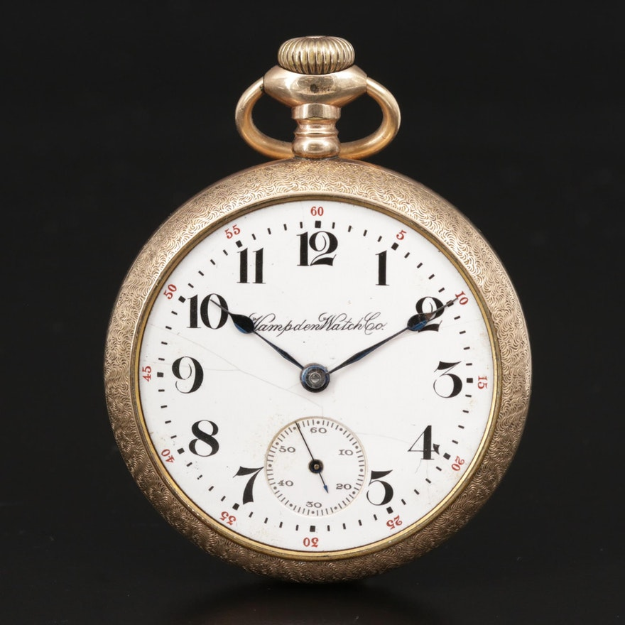 1911 Hampden Watch Co. Gold Filled Pocket Watch