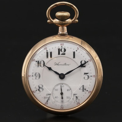 1917 Hamilton 992 Gold Filled Open Face Pocket Watch