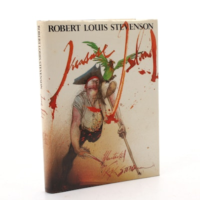 "Ralph Steadman Illustrated ""Treasure Island"" by Robert Lewis Stevenson"