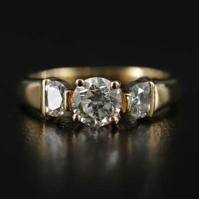18K Gold 1.00 CTW Diamond Ring