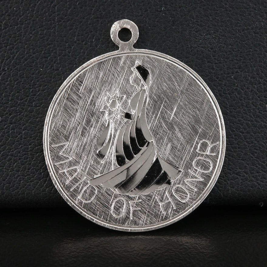 Sterling Silver 'Maid of Honor' Pendant