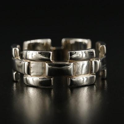 14K Gold Chain Motif Band