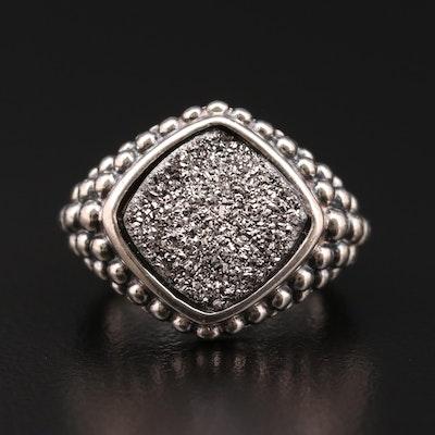 Michael Dawkins Sterling Silver Drusy Quartz Ring