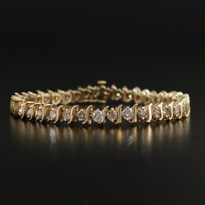 14K Gold 4.98 CTW Diamond Bracelet