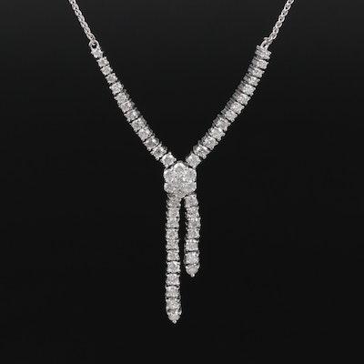 14K Gold 1.45 CTW Diamond Necklace