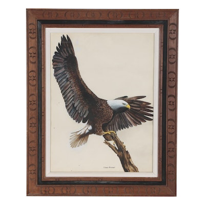 Dianne Kromer Watercolor Painting of Eagle