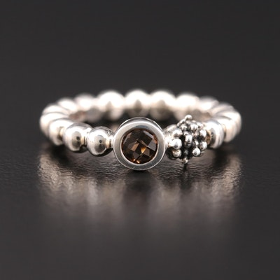 Michael Dawkins Sterling Silver Smoky Quartz Ring