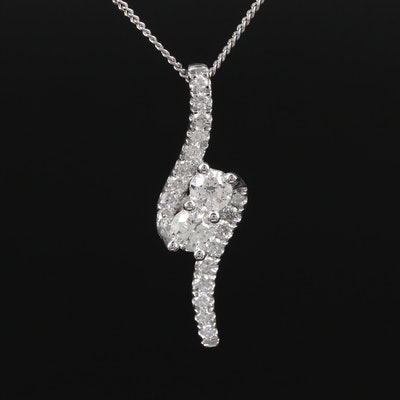 14K Gold Diamond Pendant Necklace