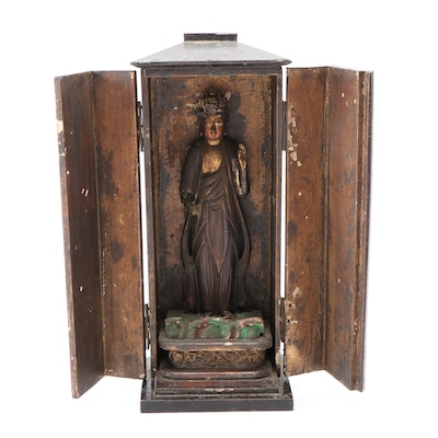 Japanese Buddhist 'Zushi' Traveling Shrine, Late 19th to Early 20th Century