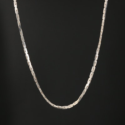 Sterling Silver Cobra Chain Necklace
