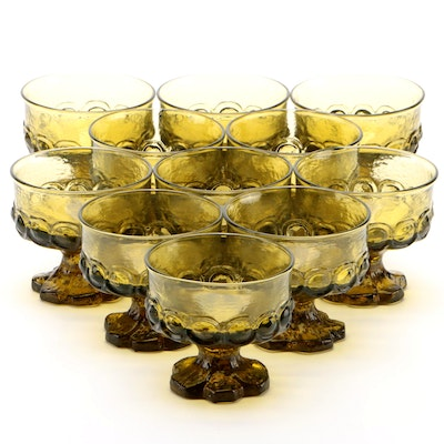 """Franciscan Citron Green """"Madeira"""" Champagne Coupes, 1971–1978"""