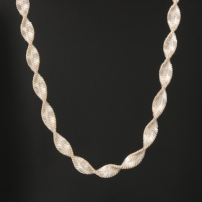Sterling Silver Twisted Chain Necklace