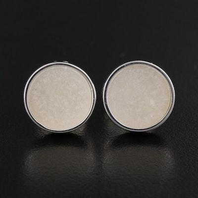 Sterling Silver Quartzite Stud Earrings