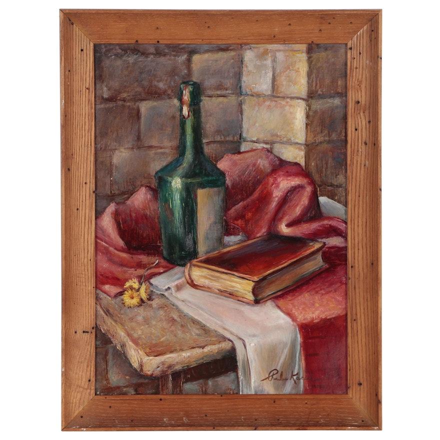 Charles Kaeselau Still Life Oil Painting, Mid-20th Century