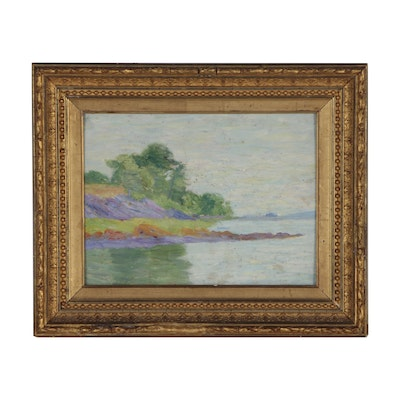 Mary B. Hazelton Landscape Oil Painting, 1907