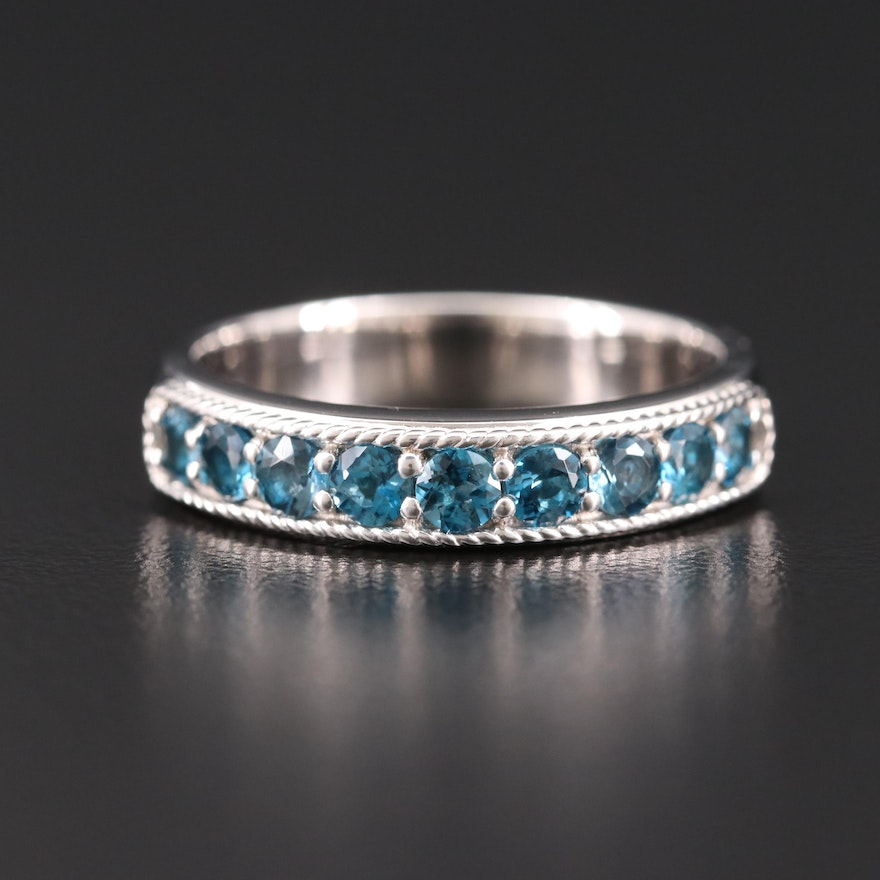 Sterling Silver Topaz Band