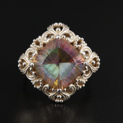 Sterling Mystic Quartz Ring