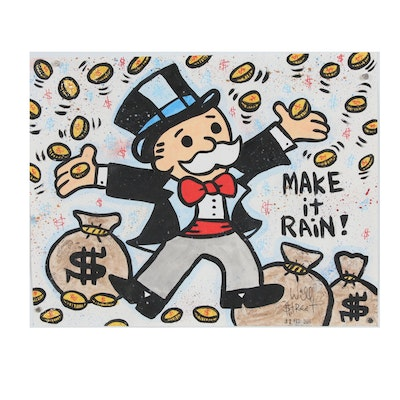 "Will $treet Acrylic Painting ""Make It Rain"""