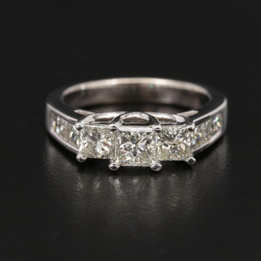 14K Gold 1.97 CTW Diamond Trellis Ring