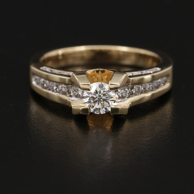 14K Gold 1.46 CTW Diamond Ring
