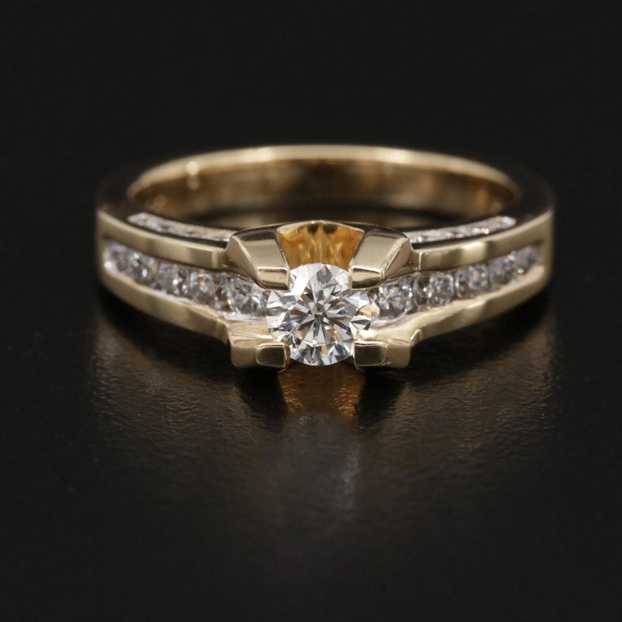 14K Gold 1.46 CTW Diamond Ring