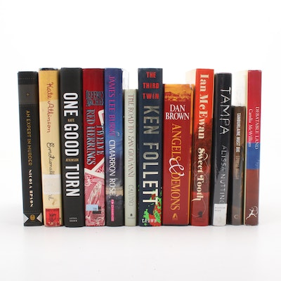 First Edition Hardcover Fiction Collection, Signed