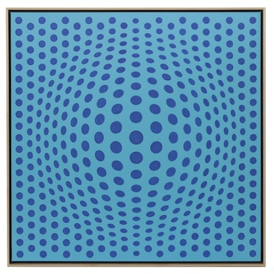 "deSanto Op Art Acrylic Painting ""Perfect Illusion XI"""