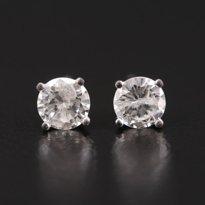 14K Gold 0.82 CTW Diamond Stud Earrings