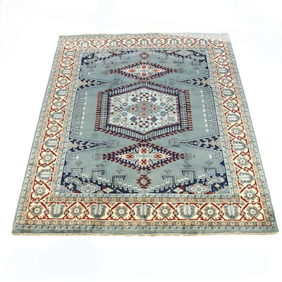 8'0 x 10'0 Hand-Knotted Indo-Caucasian Kazak Room Size Rug