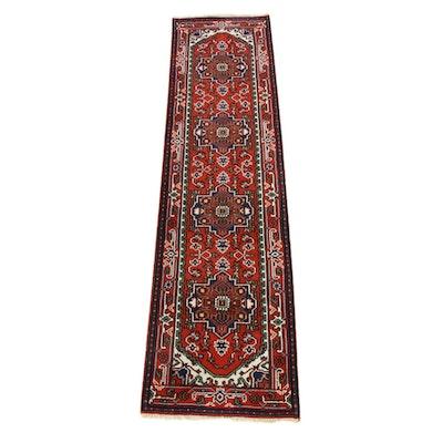 2'7 x 10'6 Hand-Knotted Indo-Persian Heriz Serapi Runner