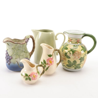 "Franciscan ""Desert Rose"", Takahashi and Other Ceramic Pitchers and Creamers"