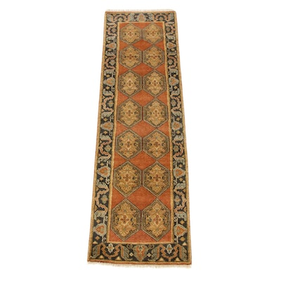2'5 x 8'4 Hand-Knotted Indo-Caucasian Runner
