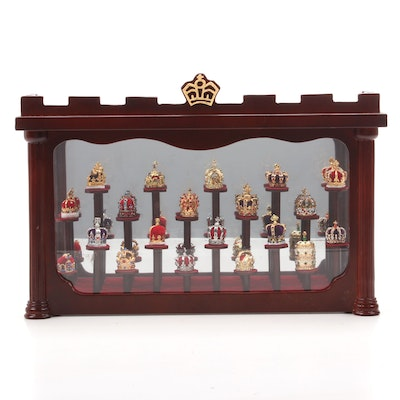 Fabergé Style Minature Crowns with Display Case