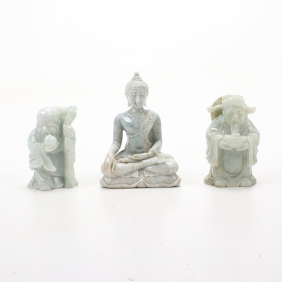Carved Stone Figures Featuring Buddha