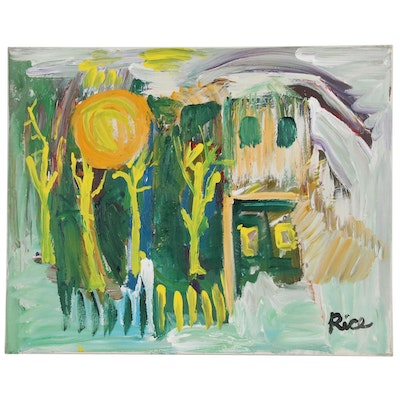 Ron Rice Abstract Landscape Oil Painting